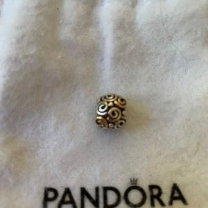 Beautiful Pandora gold and silver swirl ch…